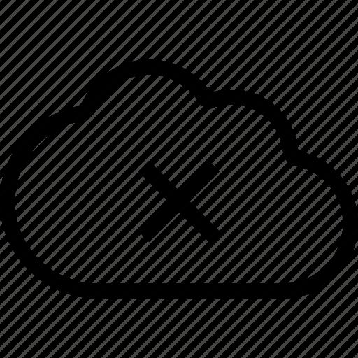 cloud, cloud cancel, cloud sync failed, fail, no space, upload failed icon