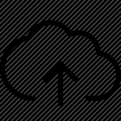 attach, cloud, cloud upload, file attachment, transfer, upload icon