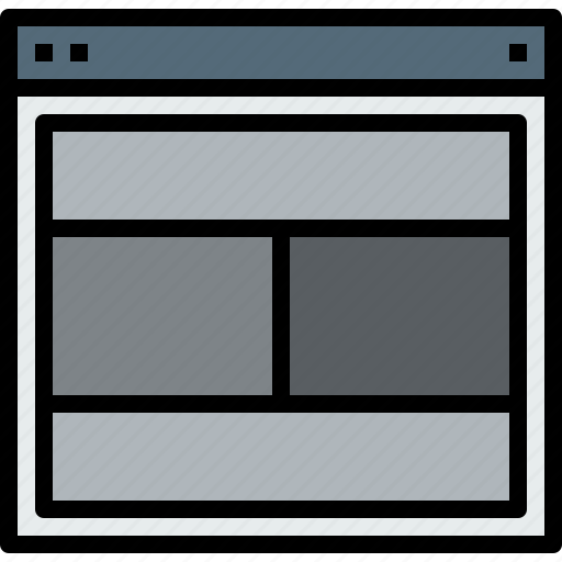 browser, internet, layout, web icon