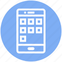 app menu, apps, function, mobile, mobile display, online, phone icon
