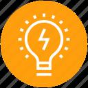 bulb, creative, idea, lamp, light bulb, marketing, thunder
