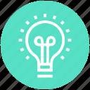 bulb, creative, idea, lamp, light, light bulb, marketing icon