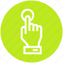 click, cursor, finger, hand, pointer, touch, web icon