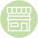 building, market, market store, shop, stall, store, web icon