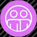account, circle, marketing, members, men, photo, users icon
