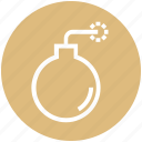 bomb, caution, danger, explosion, safety, security, weapon icon