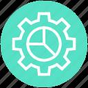 chart, cogwheel, configuration, data, gear, management, setup