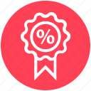 badge, discount, discount offer, discount tag, percent, percentage, sale