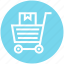 cart, carton, delivery, marketing, shopping, solutions, web