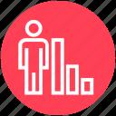 analytic, chart, graph, marketing, statistics, transaction, user icon