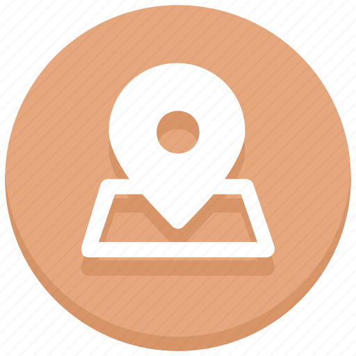 gps, location, map pin, marker, place, pointer icon