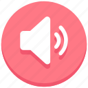 audio, full, sound, speaker, volume icon