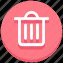 bin, delete, dustbin, garbage, mobile, trash, web icon