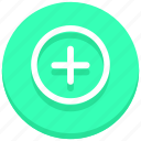 add, circle, new, plus icon