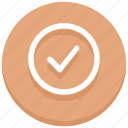 approved, check, circle, successfully, tick icon