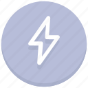 electricity, flash, light, storm, thunder, web icon