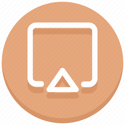arrow, square, up, web icon