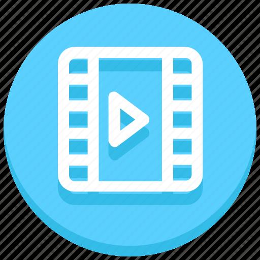 cinema, entertainment, film, film reel, movie, reel, video icon