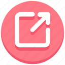 arrow, out, outgoing, ui, web icon