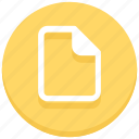 blank, document, file, page, paper, web icon