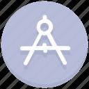 compass, design, draw, figure, graphic, math, tool icon