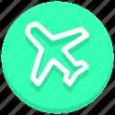 airplane, flight, fly, mode, plane, transport, travel icon