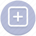 add, new, plus, square icon
