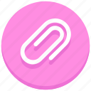 attach, attachment, clip, paper clip icon