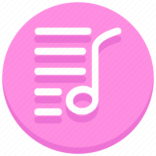 music, musical, note, song, sound icon