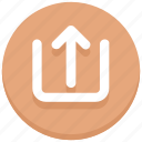arrow, share, up, upload, web icon