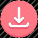 arrow, down, download, receive, web icon