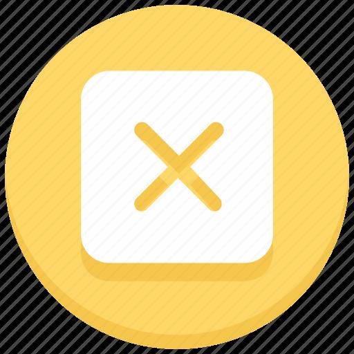 cancel, close, cross, reject, square icon