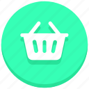 bucket, cart, online, shopping, web icon