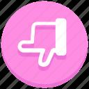 down, hand, no vote, social, thumb, unlike, web icon