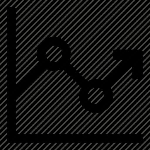 analytics, chart, graph, prognosis, sales, statistics, tiny2 icon