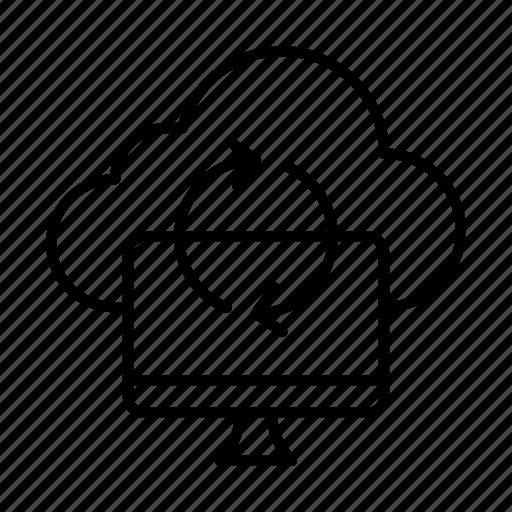 cloud, computer, dev, exchange, sync, web icon