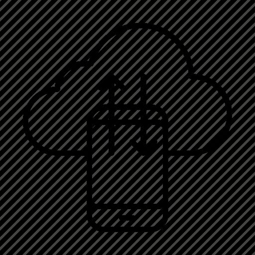 cloud, exchange, phone, smartphone, sync icon