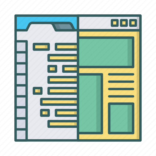 coding, development, html, programming, psd to html, web, website icon