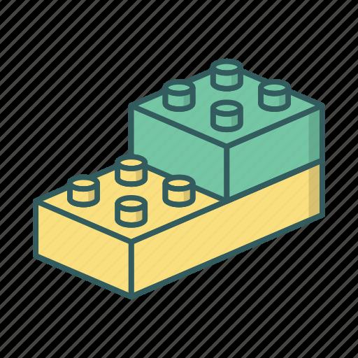 bem, blocks, constructor, lego icon