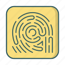 biometric, finger, fingerprint, scan, security icon