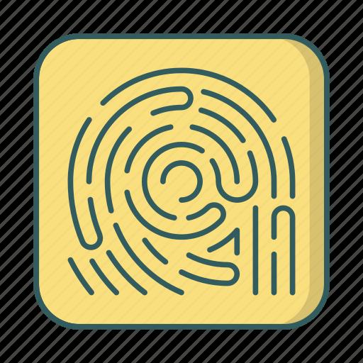biometric, finger, fingerprint, scan, security icon