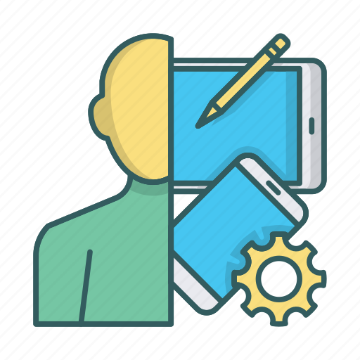 developer, devices, gadgets, geek, programmer, settings, tools icon
