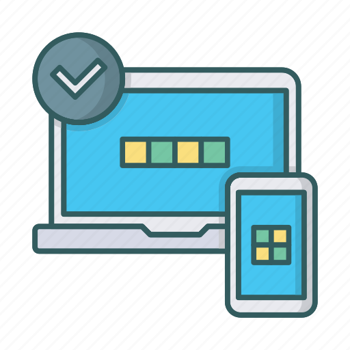 adaptive, check, design, laptop, layout, responsive, smartphone icon