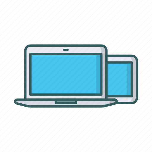 adaptive, devices, laptop, responsive, tablet icon