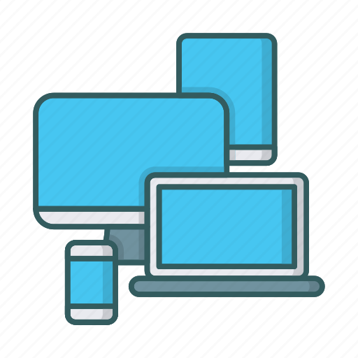 adaptive, devices, laptop, monitor, responsive, smartphone, tablet icon