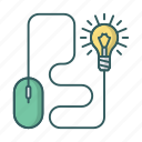 bulb, device, idea, light, lightbulb, mouse icon
