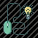 lightbulb, light, idea, device, bulb, mouse icon