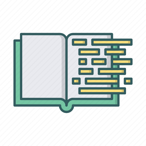 book, code, coding, development, education, learning, programming icon