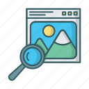 find, image, photo, photobank, search, shutterstock, stock icon