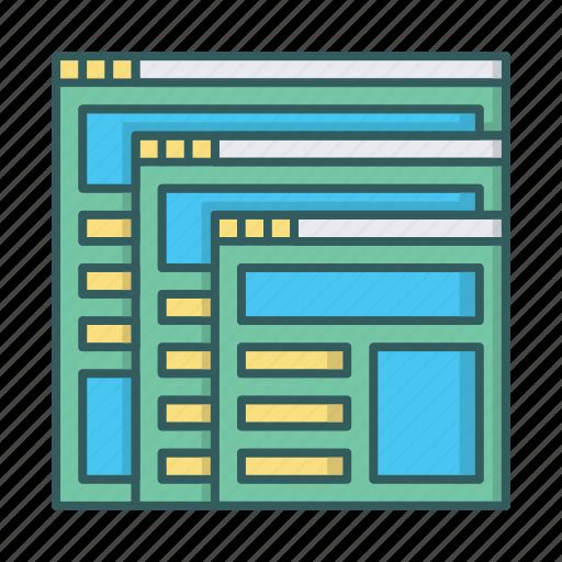 adaptive, design, devices, mobile, responsive, web icon